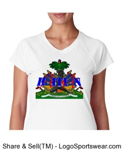 Champion Ladies Wicking V-Neck Tee Design Zoom